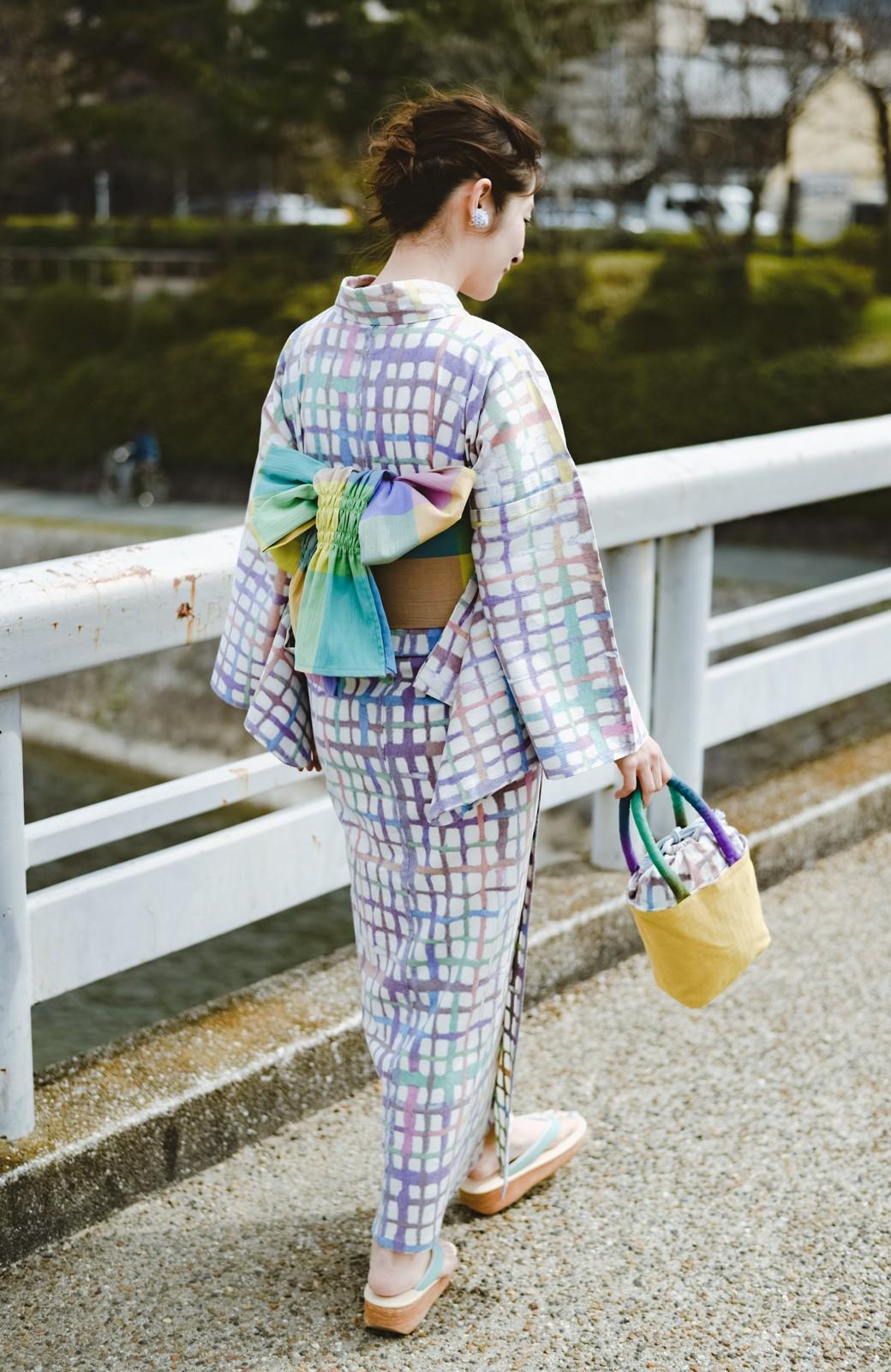 haco! ひでや工房 京都の綿ちりめん浴衣 <ベージュ系その他>の商品写真13