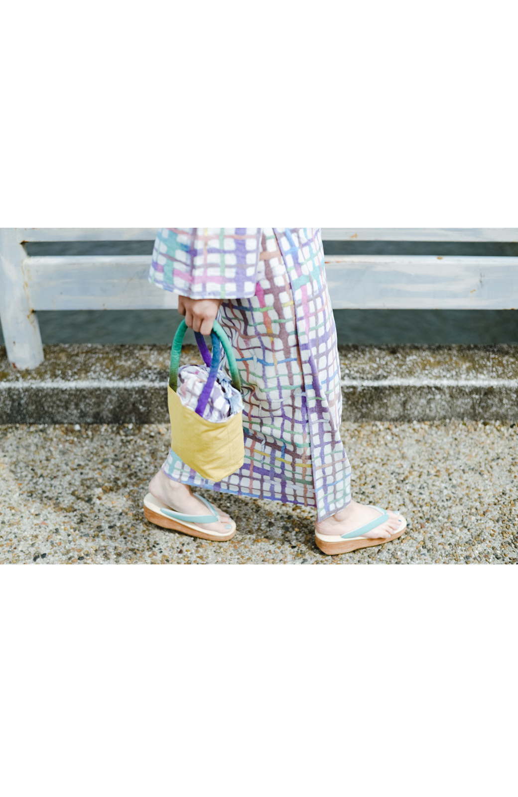 haco! ひでや工房 京都の綿ちりめん浴衣 <ベージュ系その他>の商品写真14