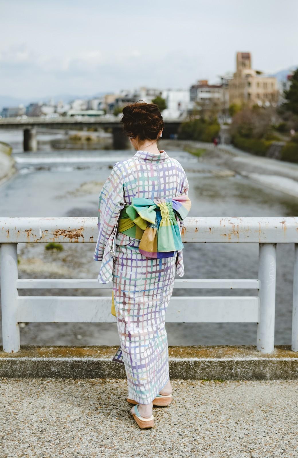 haco! ひでや工房 京都の綿ちりめん浴衣 <ベージュ系その他>の商品写真17