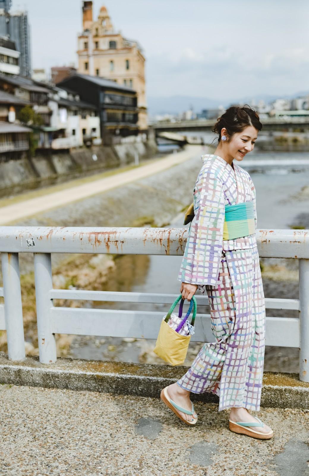 haco! ひでや工房 京都の綿ちりめん浴衣 <ベージュ系その他>の商品写真19
