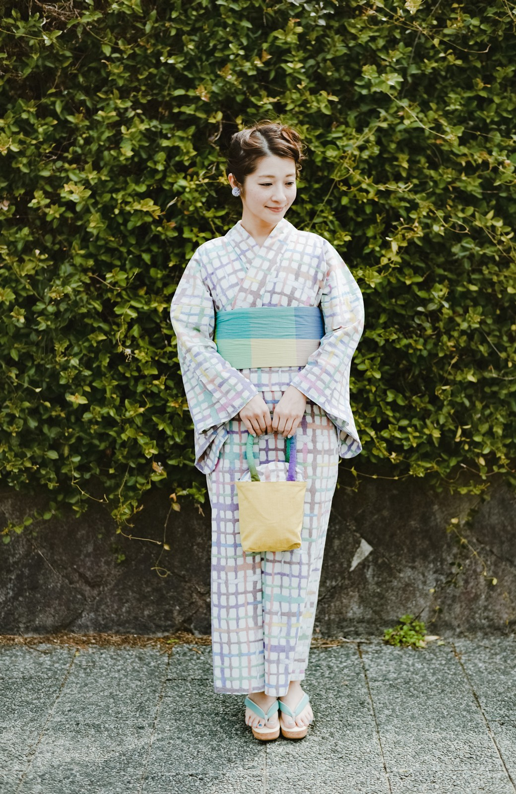 haco! ひでや工房 京都の綿ちりめん浴衣 <ベージュ系その他>の商品写真5