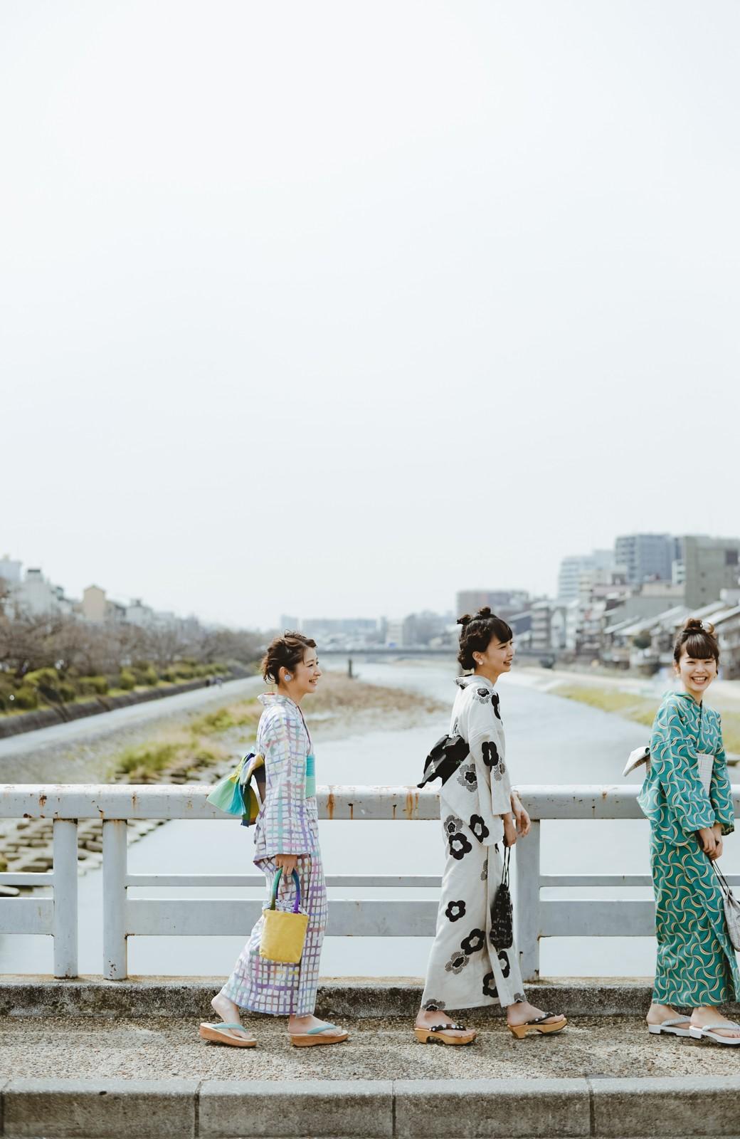 haco! ひでや工房 京都の綿ちりめん浴衣 <ベージュ系その他>の商品写真22