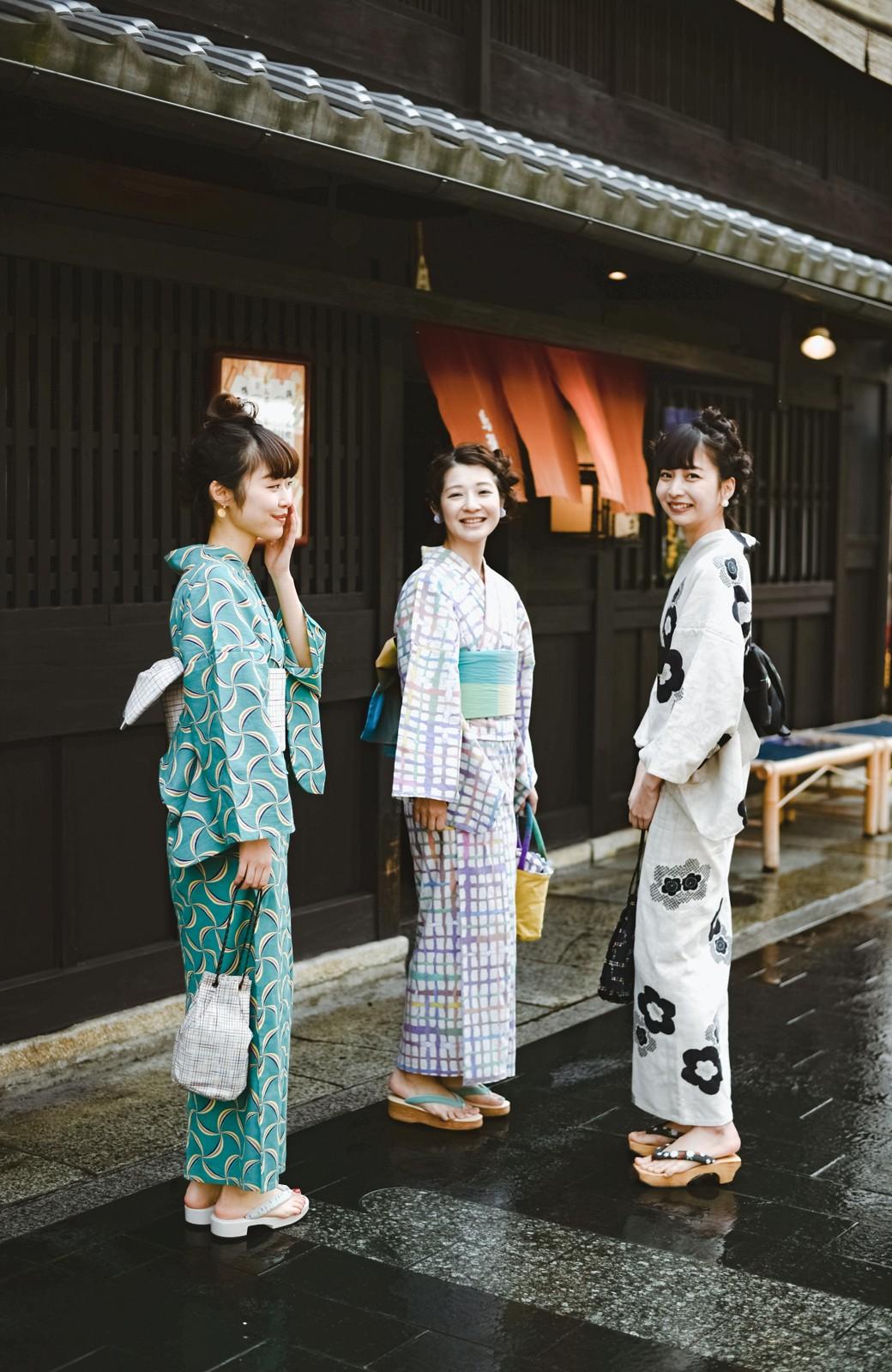 haco! ひでや工房 京都の綿ちりめん浴衣 <ベージュ系その他>の商品写真25