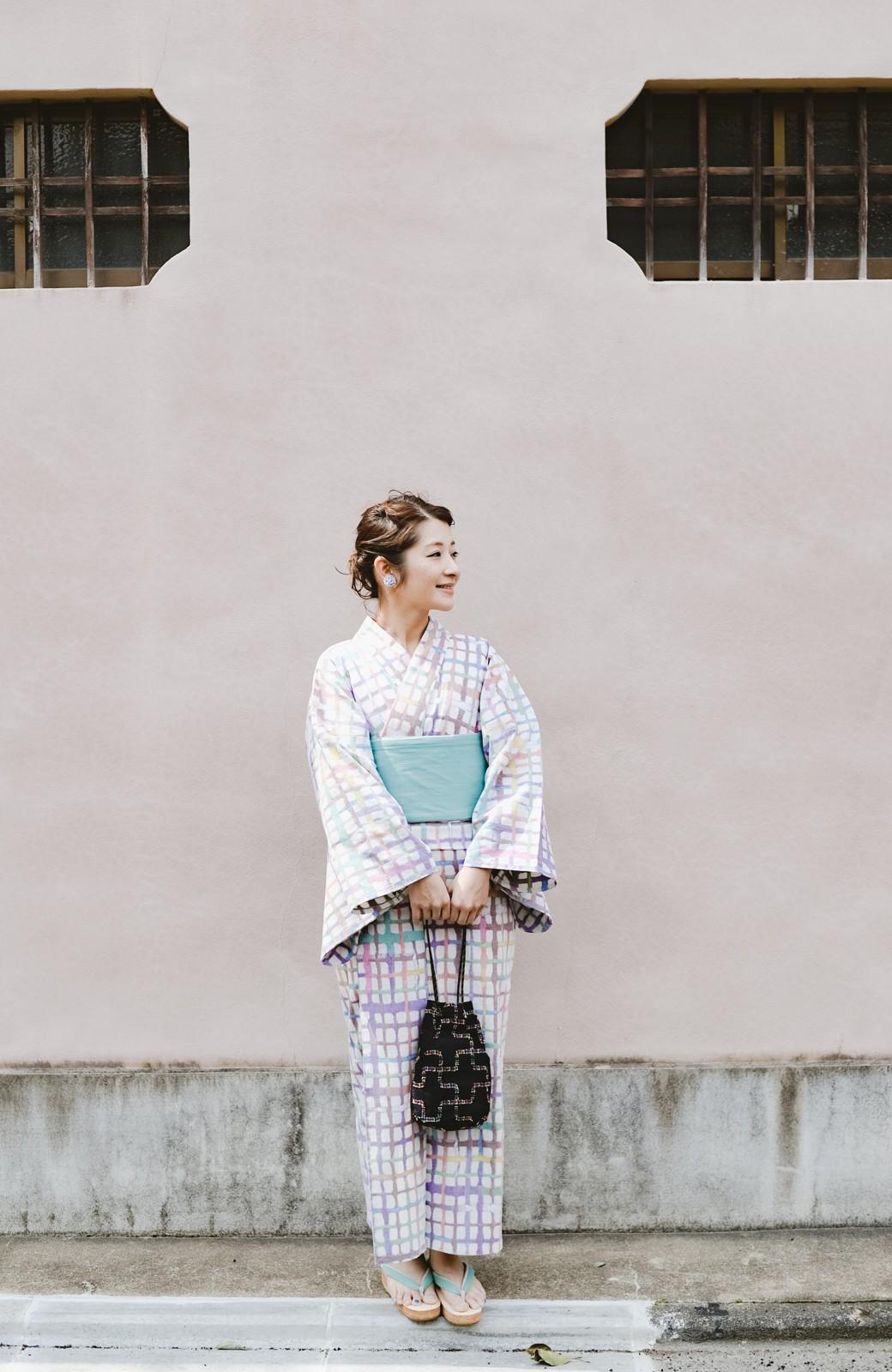 haco! ひでや工房 京都の綿ちりめん浴衣 <ベージュ系その他>の商品写真28