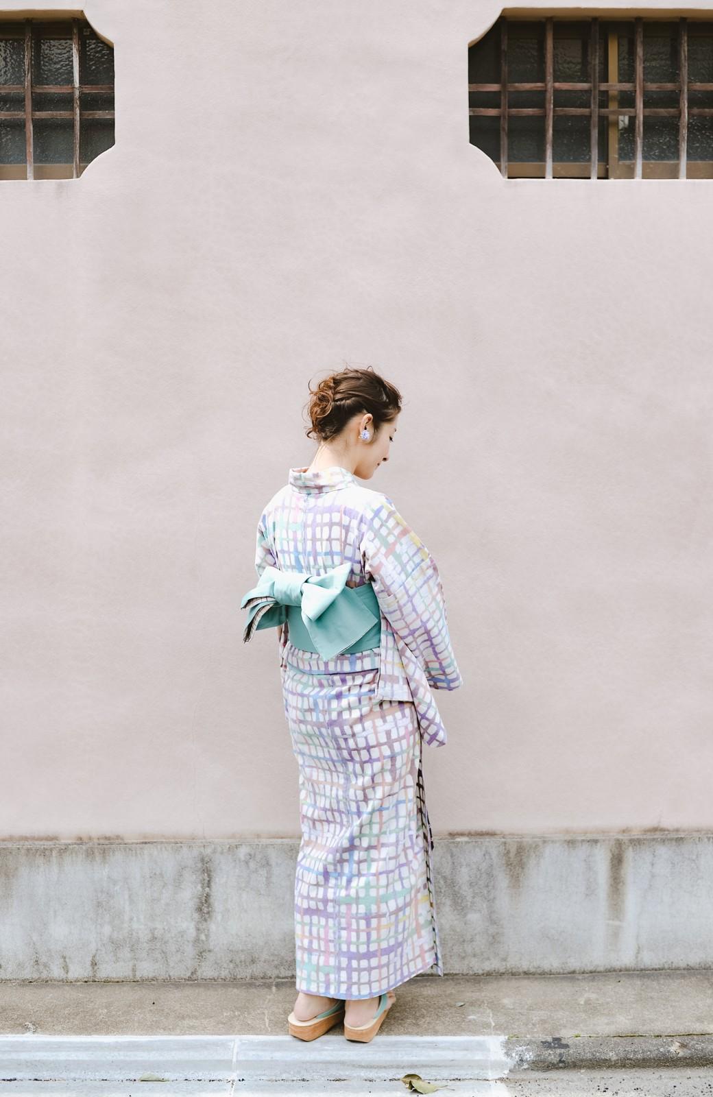 haco! ひでや工房 京都の綿ちりめん浴衣 <ベージュ系その他>の商品写真29