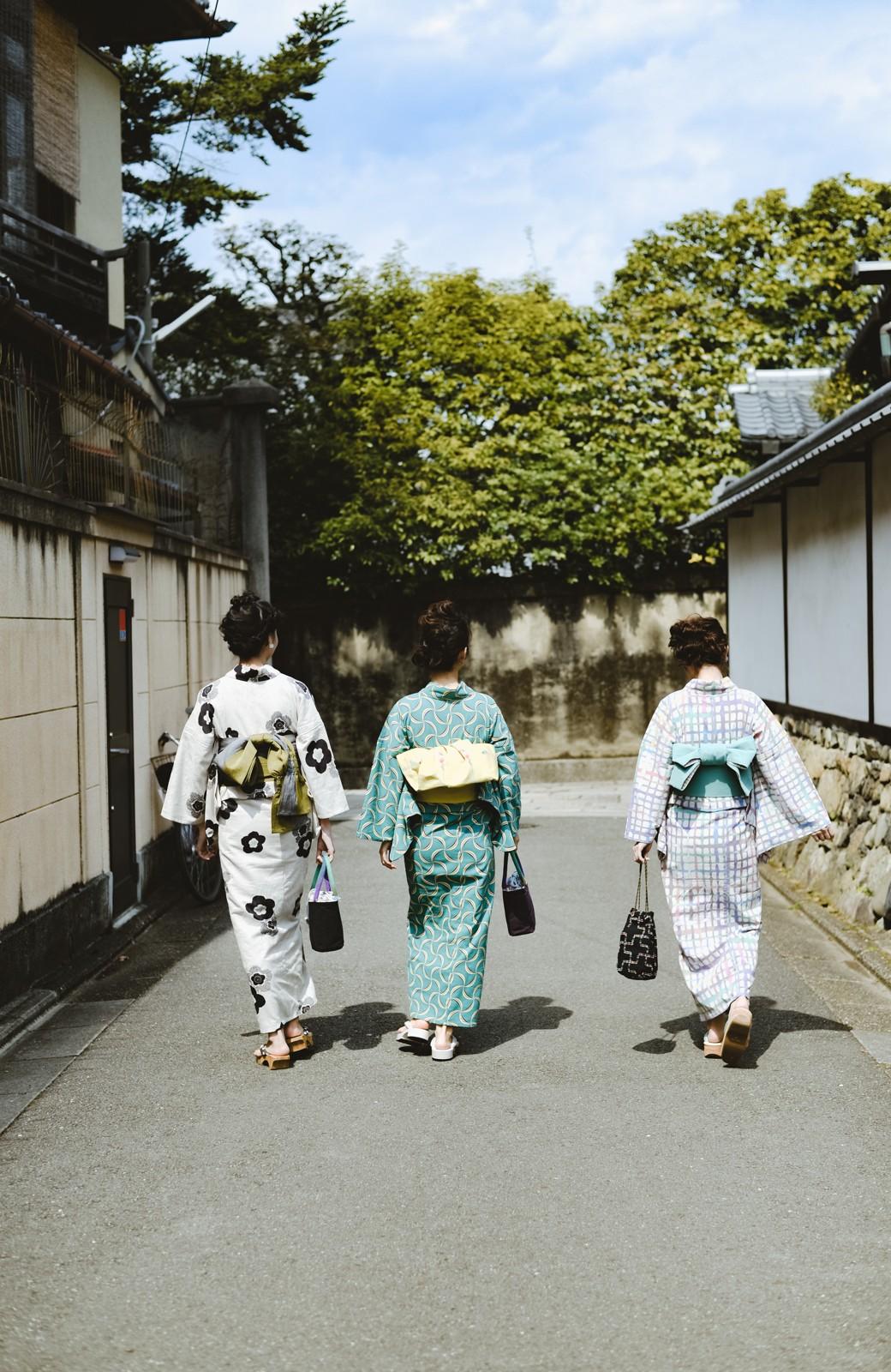 haco! ひでや工房 京都の綿ちりめん浴衣 <ベージュ系その他>の商品写真31
