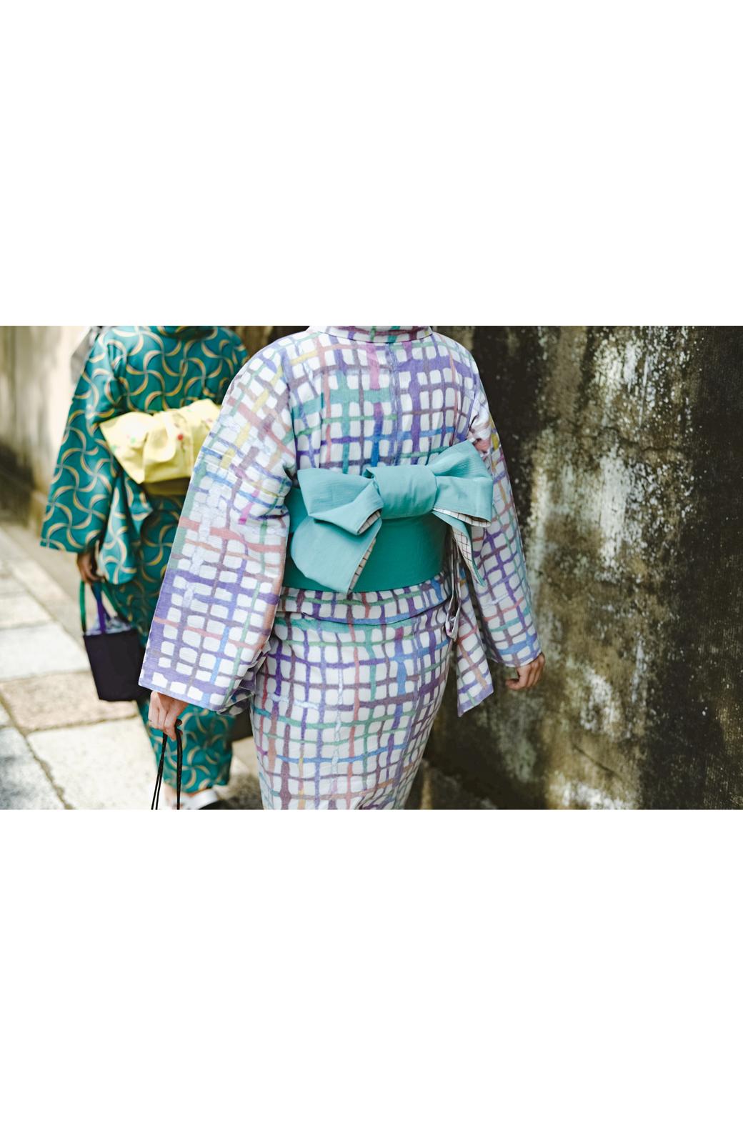 haco! ひでや工房 京都の綿ちりめん浴衣 <ベージュ系その他>の商品写真32
