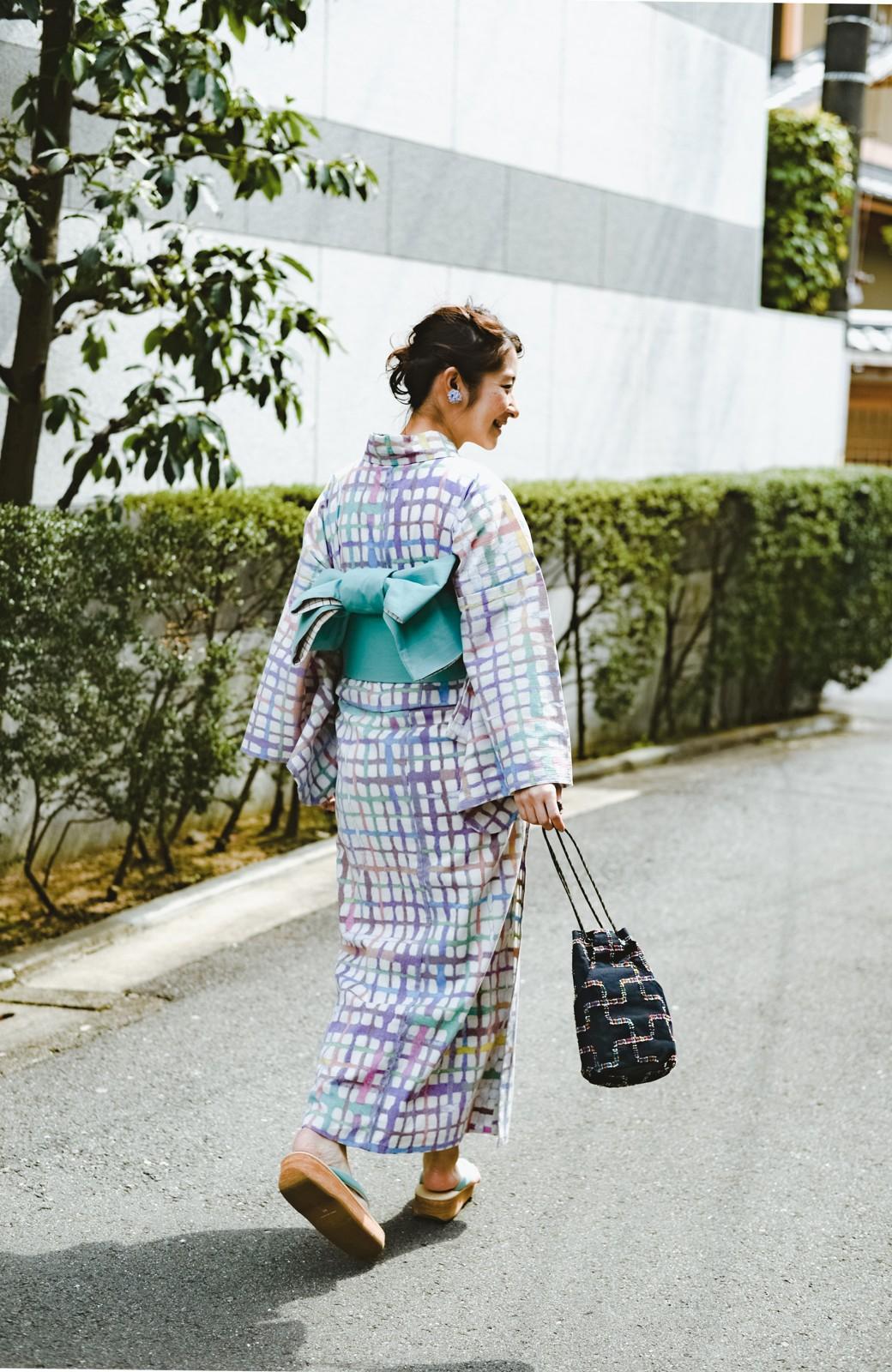 haco! ひでや工房 京都の綿ちりめん浴衣 <ベージュ系その他>の商品写真33