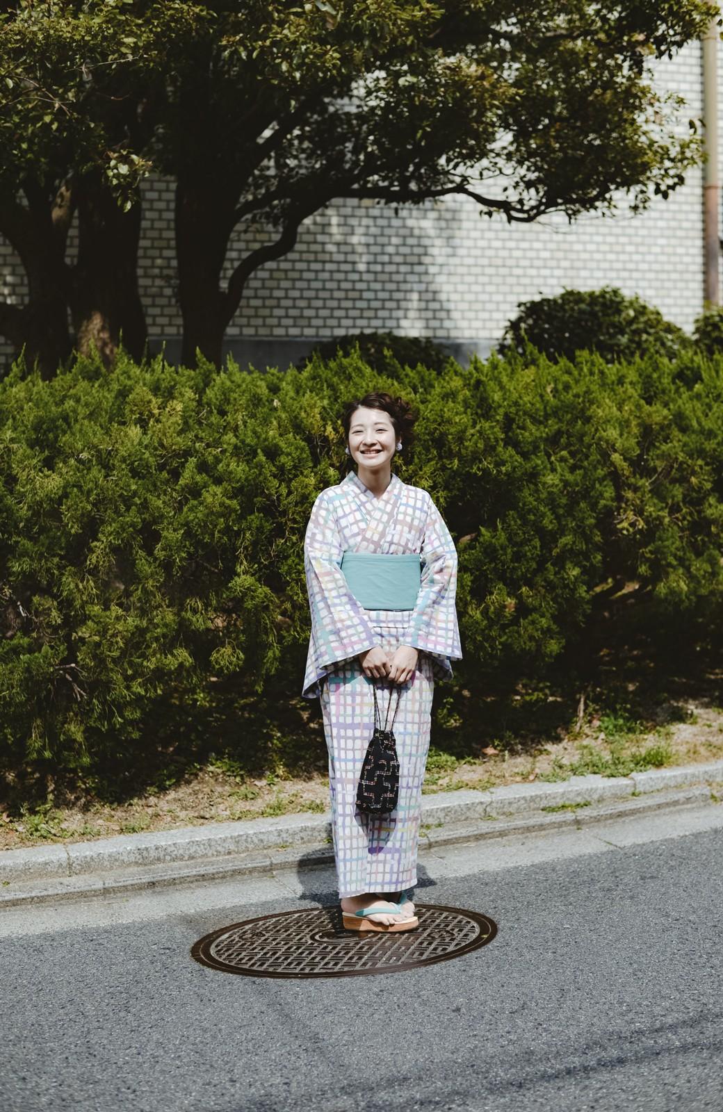 haco! ひでや工房 京都の綿ちりめん浴衣 <ベージュ系その他>の商品写真35