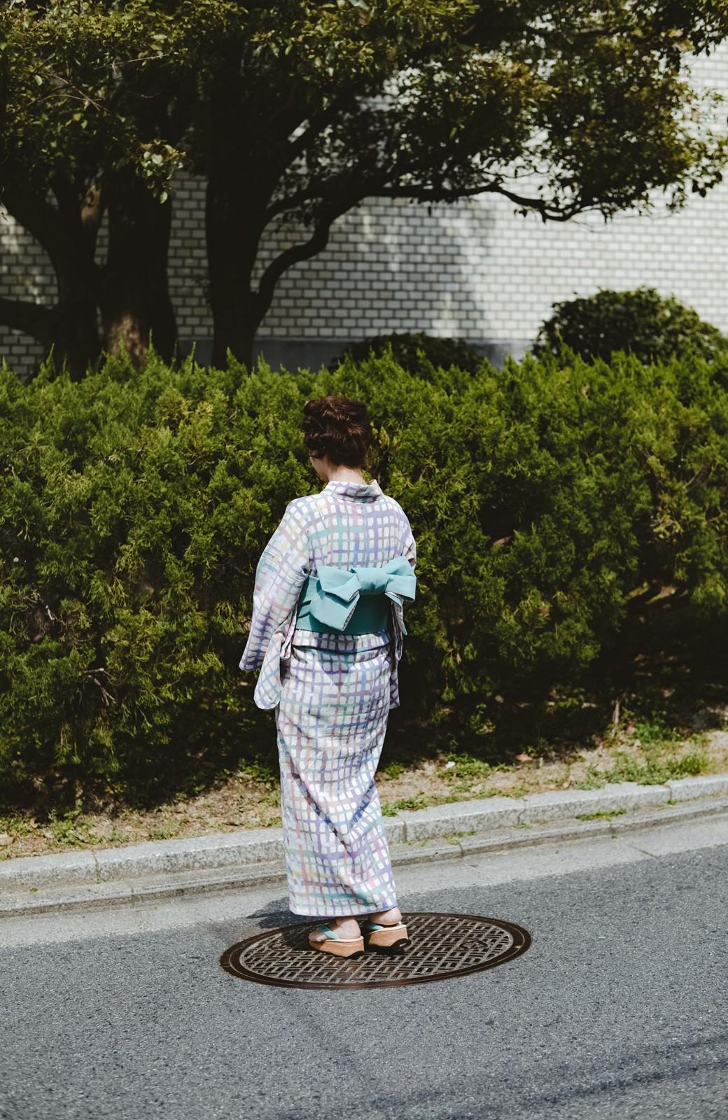 haco! ひでや工房 京都の綿ちりめん浴衣 <ベージュ系その他>の商品写真36