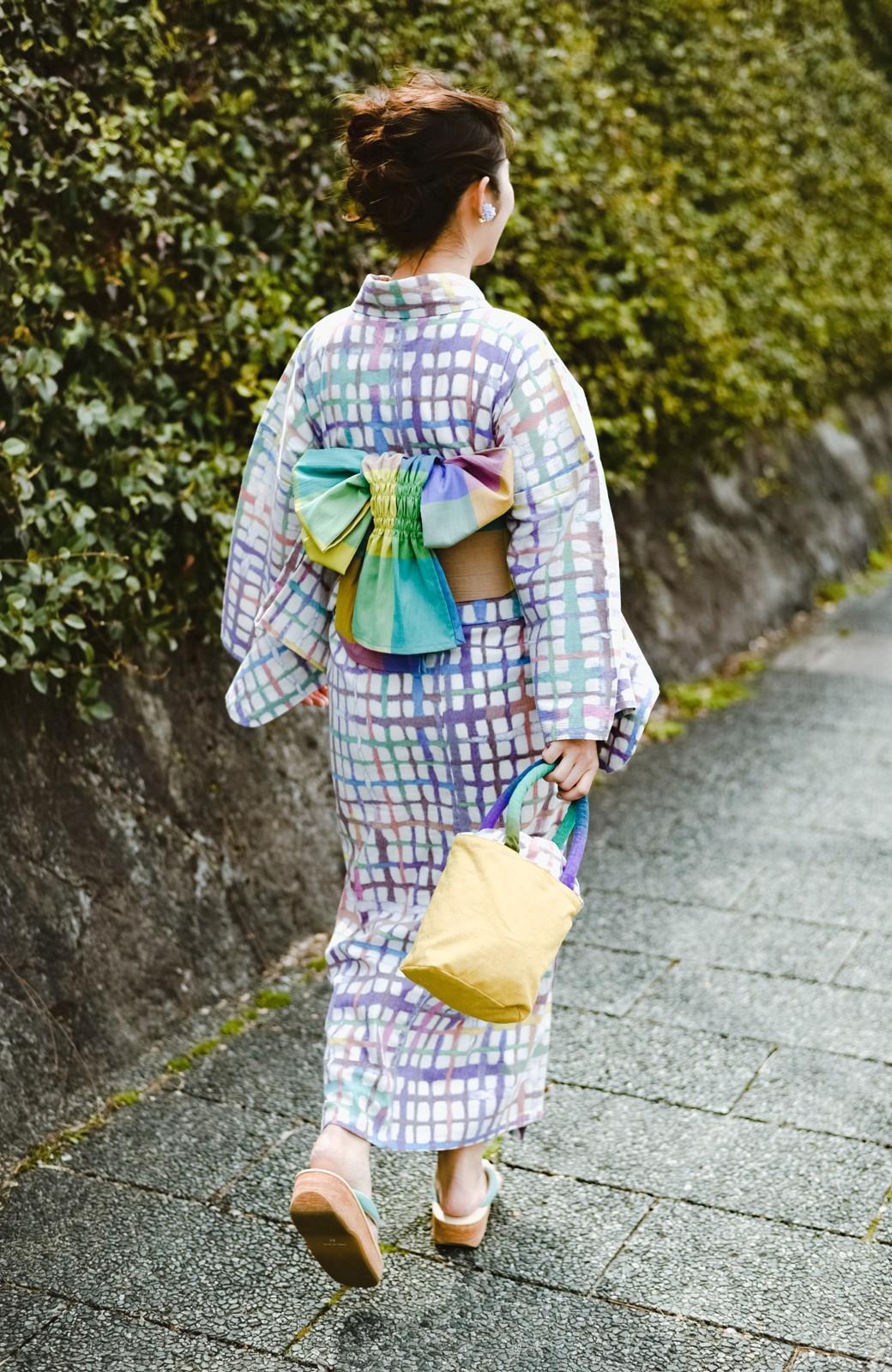 haco! ひでや工房 京都の綿ちりめん浴衣 <ベージュ系その他>の商品写真1