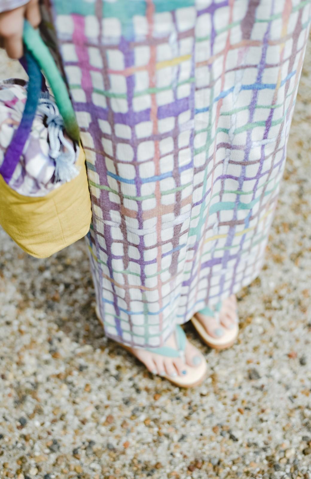 haco! ひでや工房 京都の綿ちりめん浴衣 <ベージュ系その他>の商品写真7