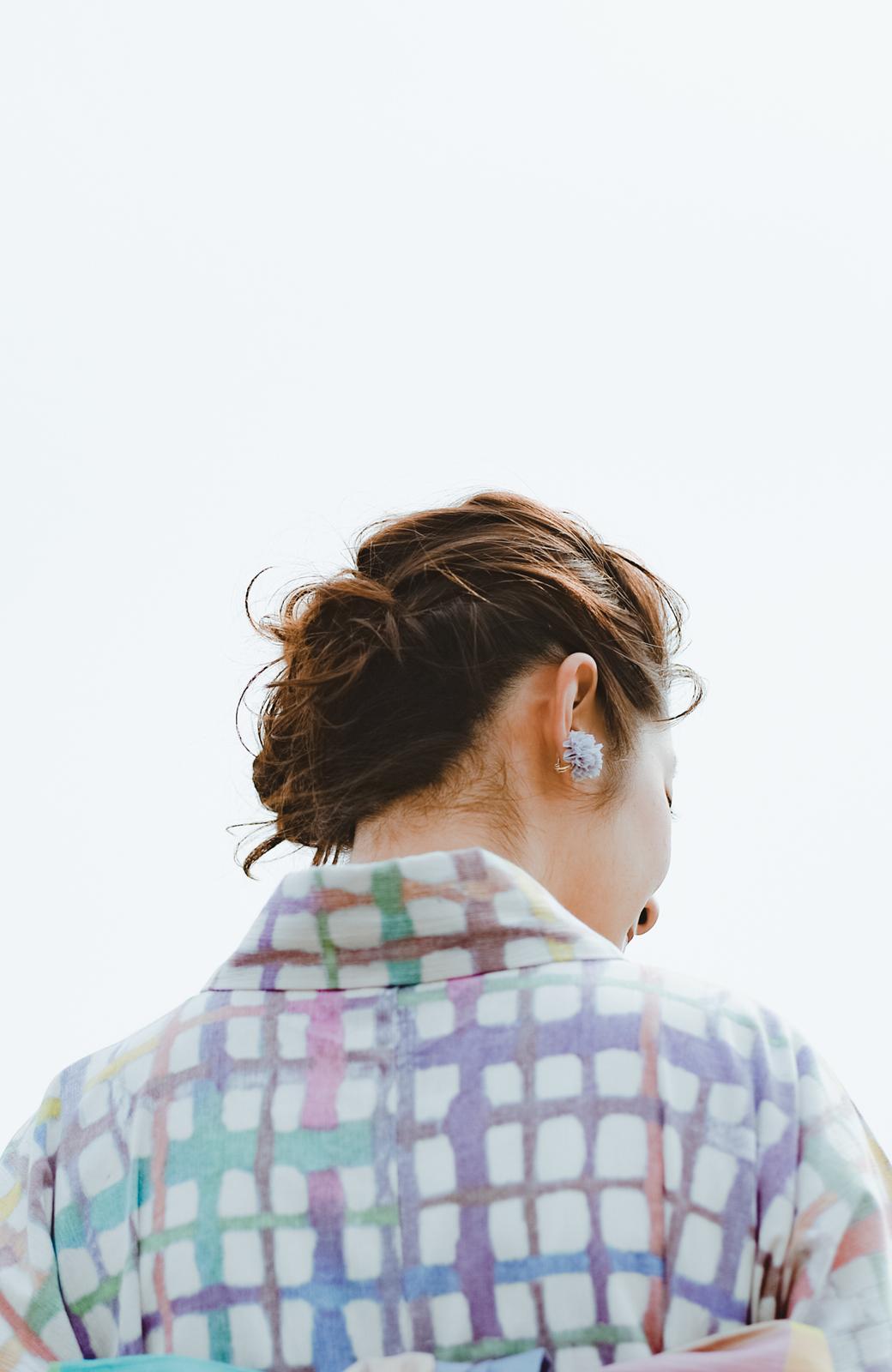 haco! ひでや工房 京都の綿ちりめん浴衣 <ベージュ系その他>の商品写真8