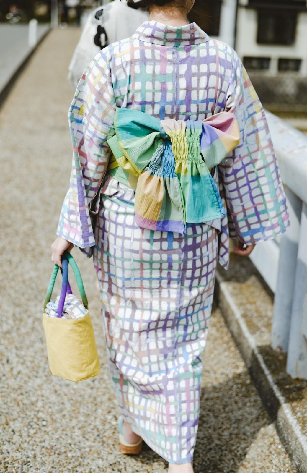 haco! ひでや工房 京都の綿ちりめん浴衣 <ベージュ系その他>の商品写真9