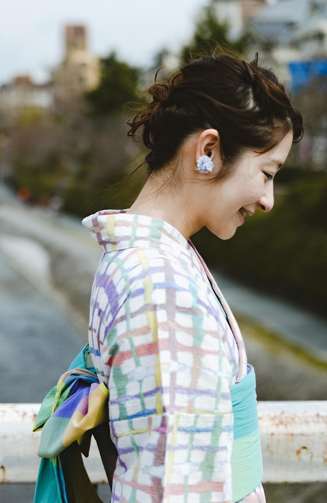 haco! ひでや工房 京都の綿ちりめん浴衣 <ベージュ系その他>の商品写真10