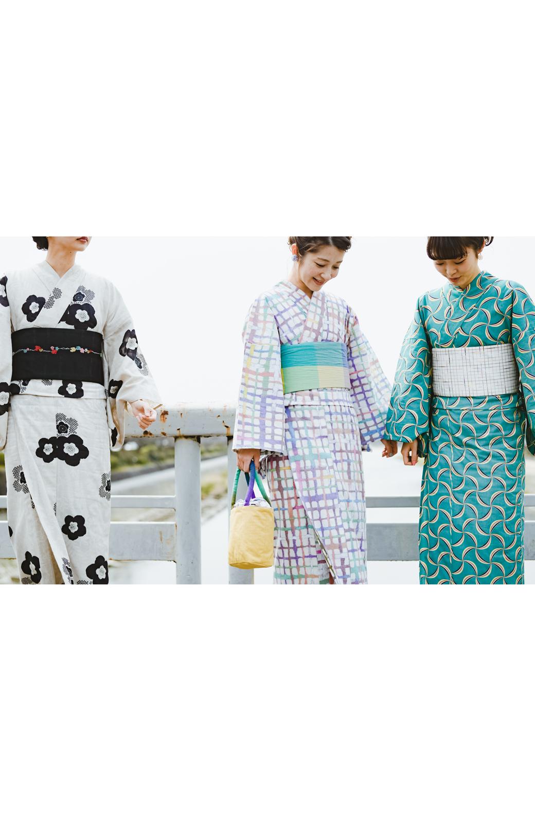 haco! ひでや工房 京都の半巾帯 つた柄 <ブラック>の商品写真17