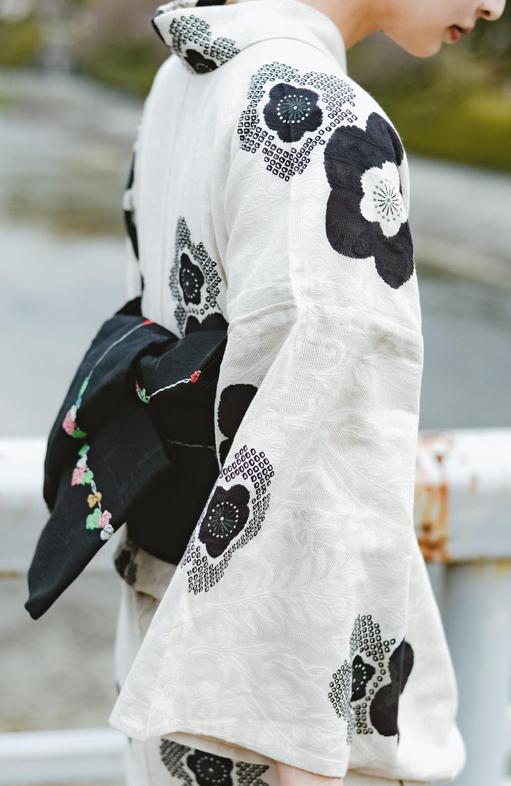 haco! ひでや工房 京都の半巾帯 つた柄 <ブラック>の商品写真5