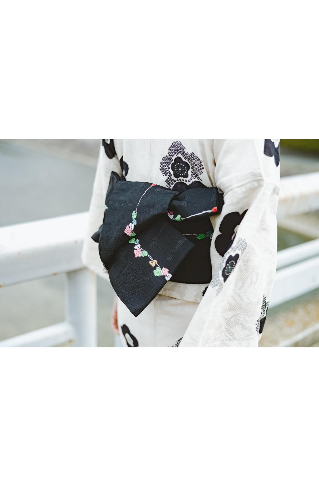 haco! ひでや工房 京都の半巾帯 つた柄 <ブラック>の商品写真8