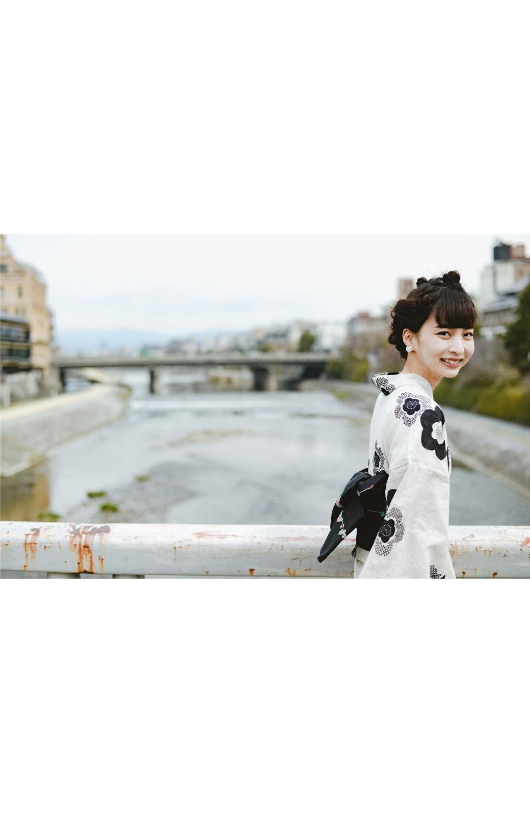 haco! ひでや工房 京都の半巾帯 つた柄 <ブラック>の商品写真10