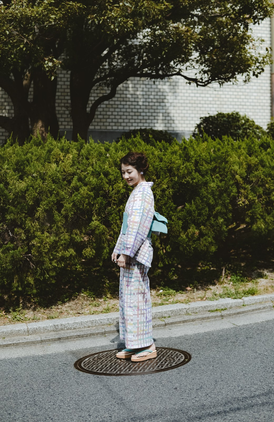 haco! ひでや工房 京都の半巾帯 小格子 <カラフル>の商品写真14
