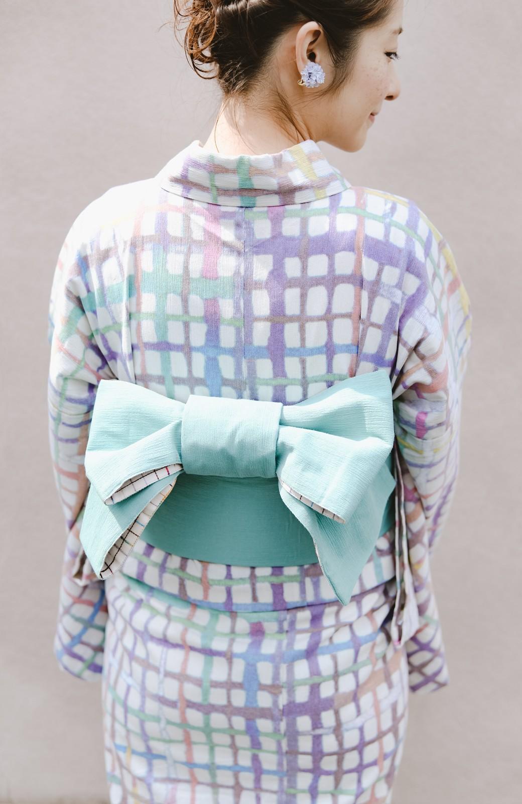 haco! ひでや工房 京都の半巾帯 小格子 <カラフル>の商品写真16