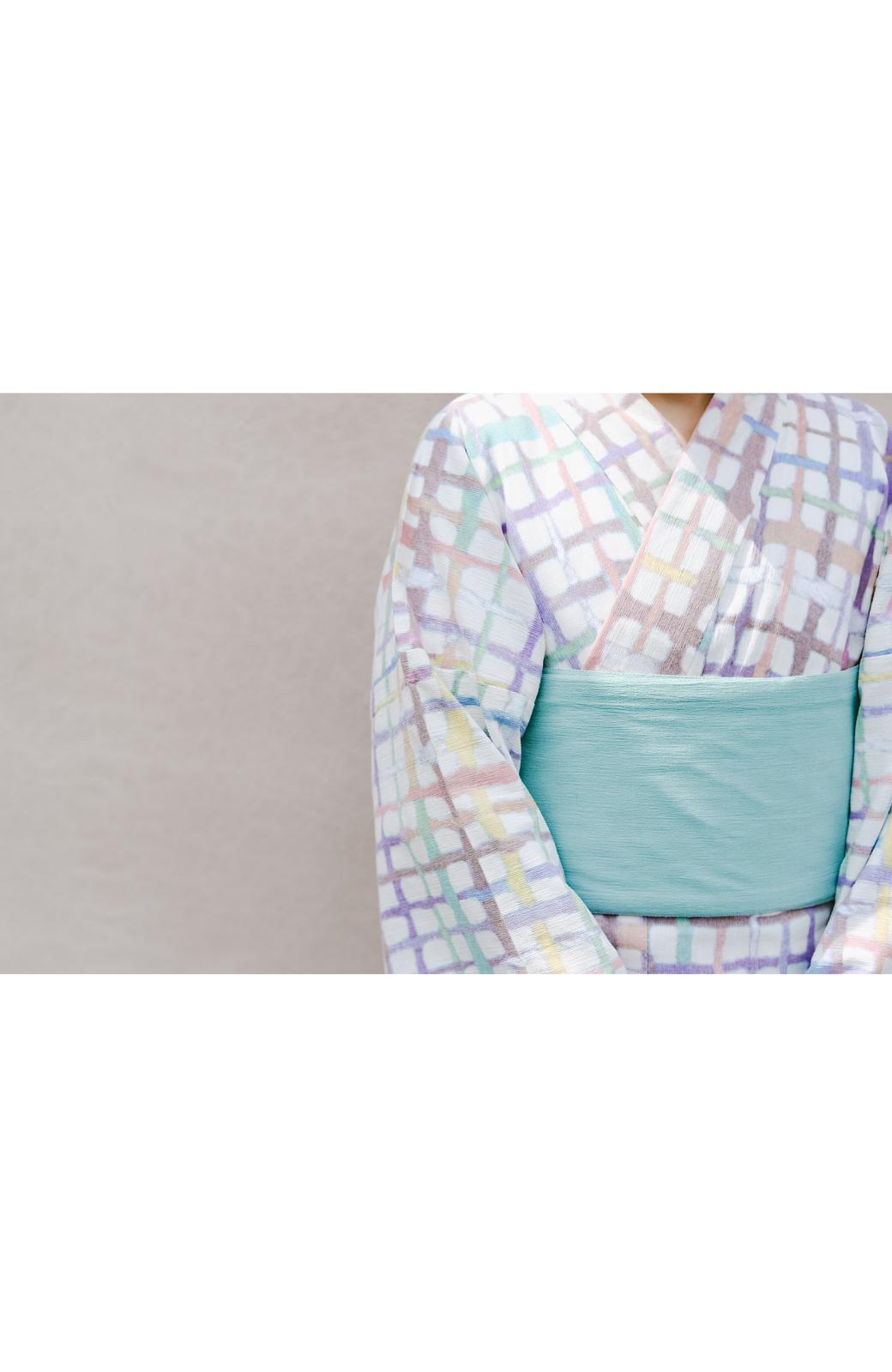 haco! ひでや工房 京都の半巾帯 小格子 <カラフル>の商品写真17