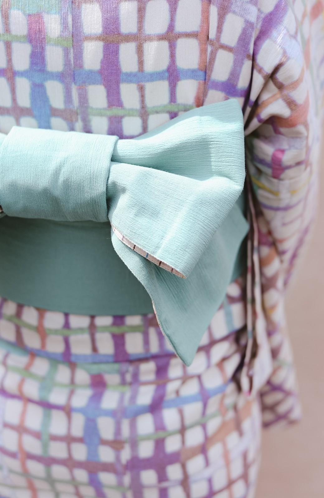 haco! ひでや工房 京都の半巾帯 小格子 <カラフル>の商品写真19