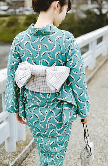 haco! ひでや工房 京都の半巾帯 小格子 <カラフル>の商品写真