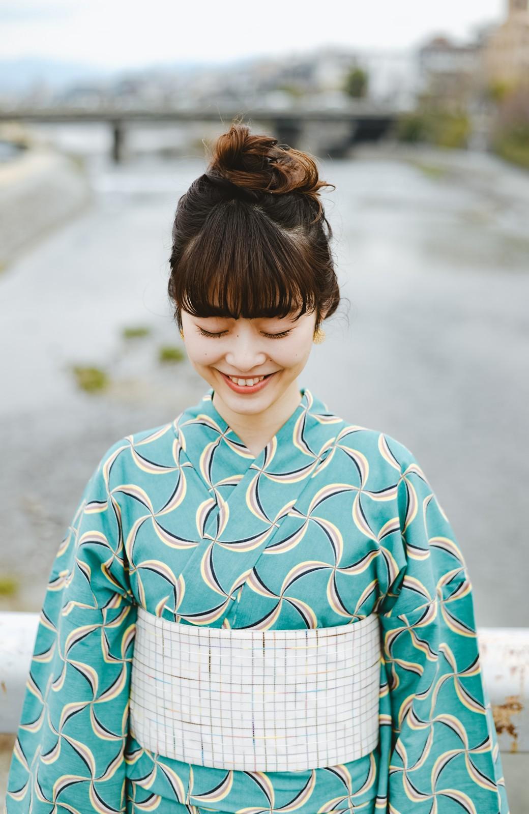 haco! ひでや工房 京都の半巾帯 小格子 <カラフル>の商品写真3