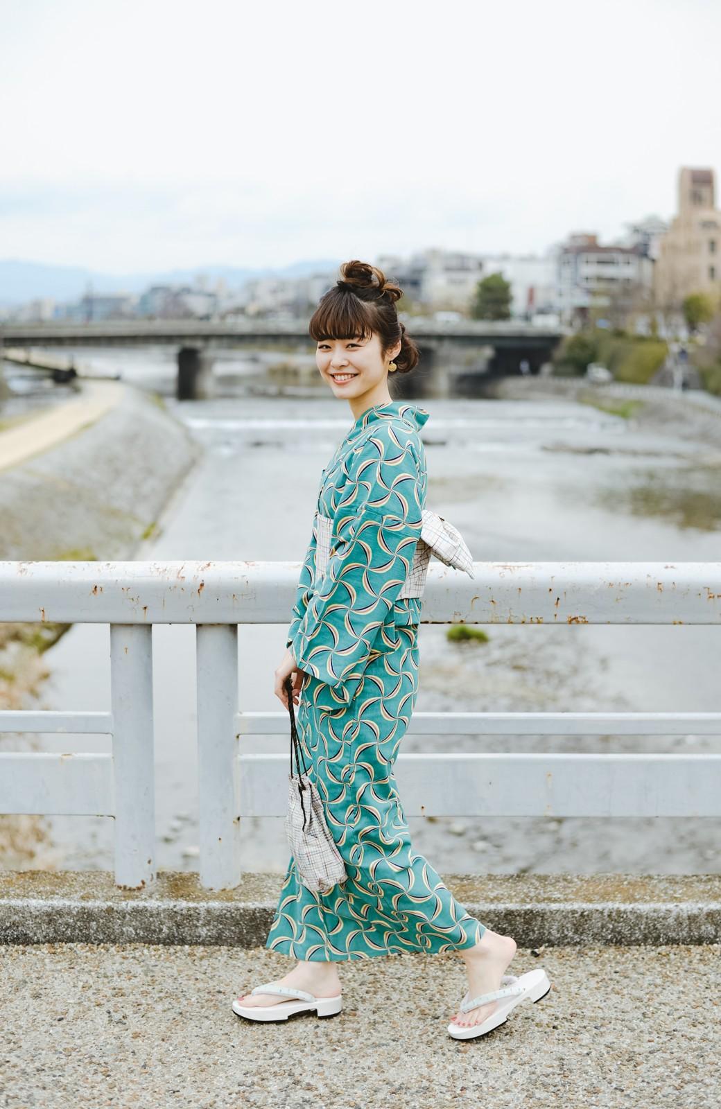 haco! ひでや工房 京都の半巾帯 小格子 <カラフル>の商品写真7