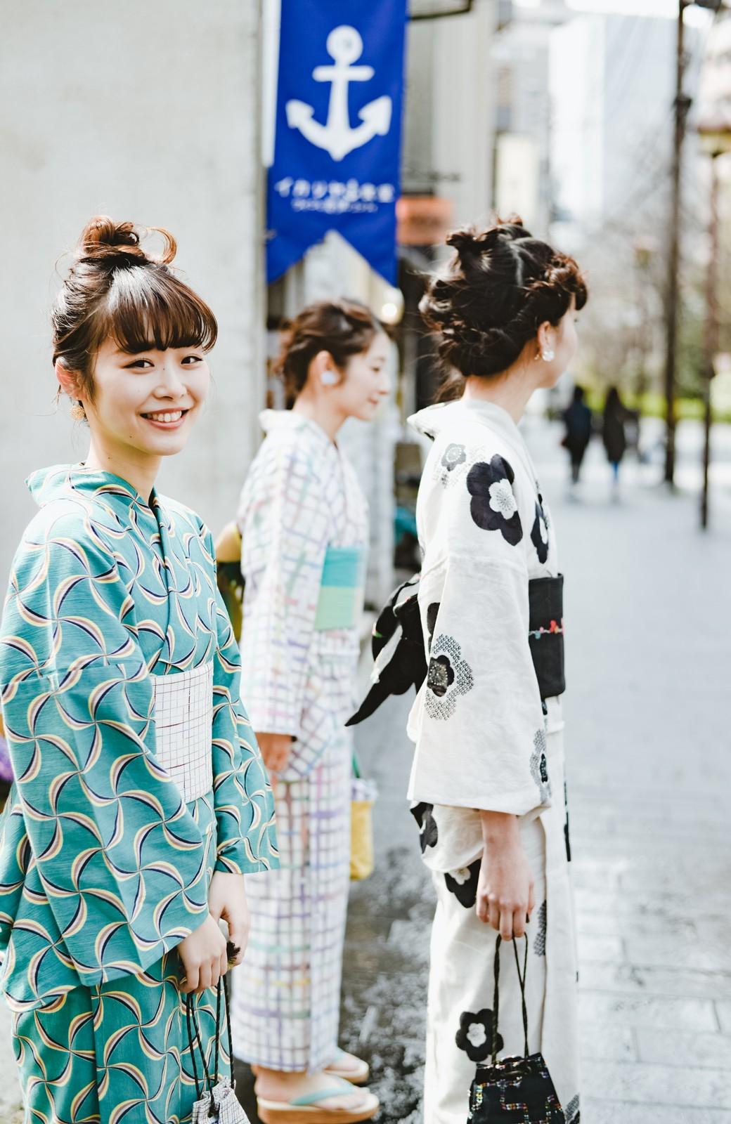 haco! ひでや工房 京都の半巾帯 小格子 <カラフル>の商品写真9