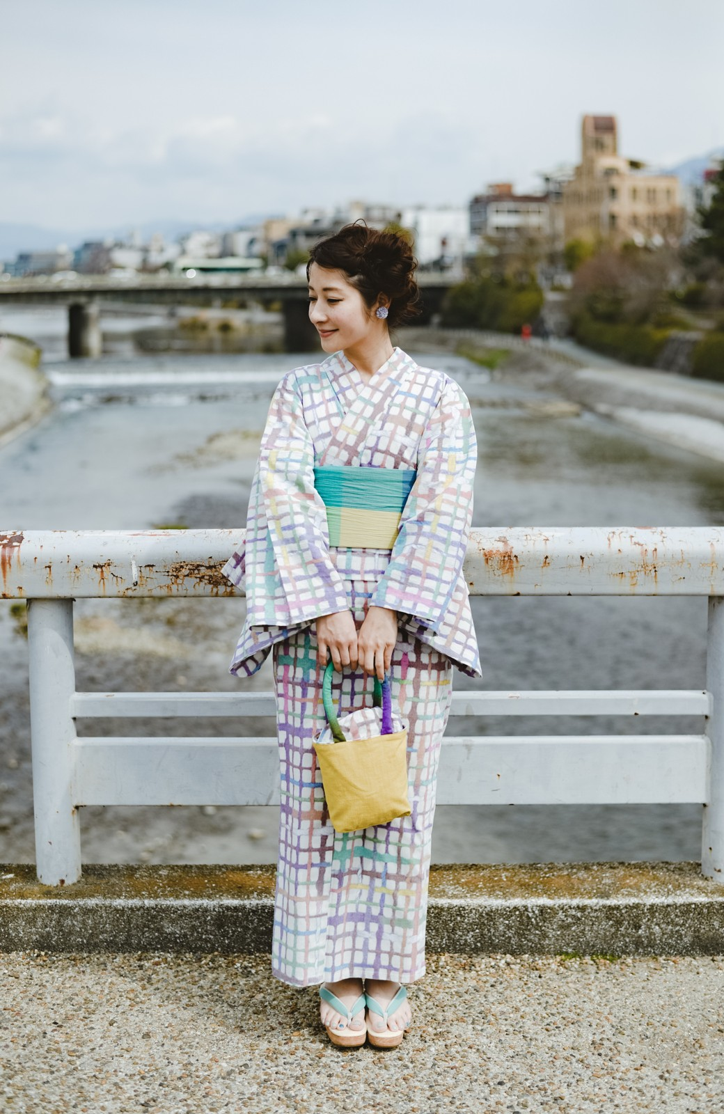 haco! ひでや工房 京都のへこ帯 大格子 <カラフル>の商品写真13