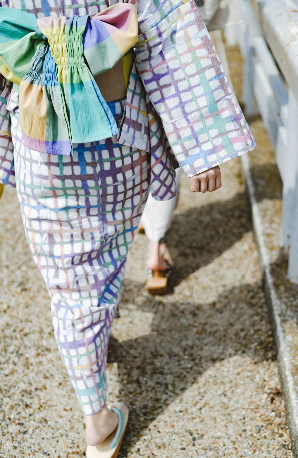 haco! ひでや工房 京都のへこ帯 大格子 <カラフル>の商品写真4