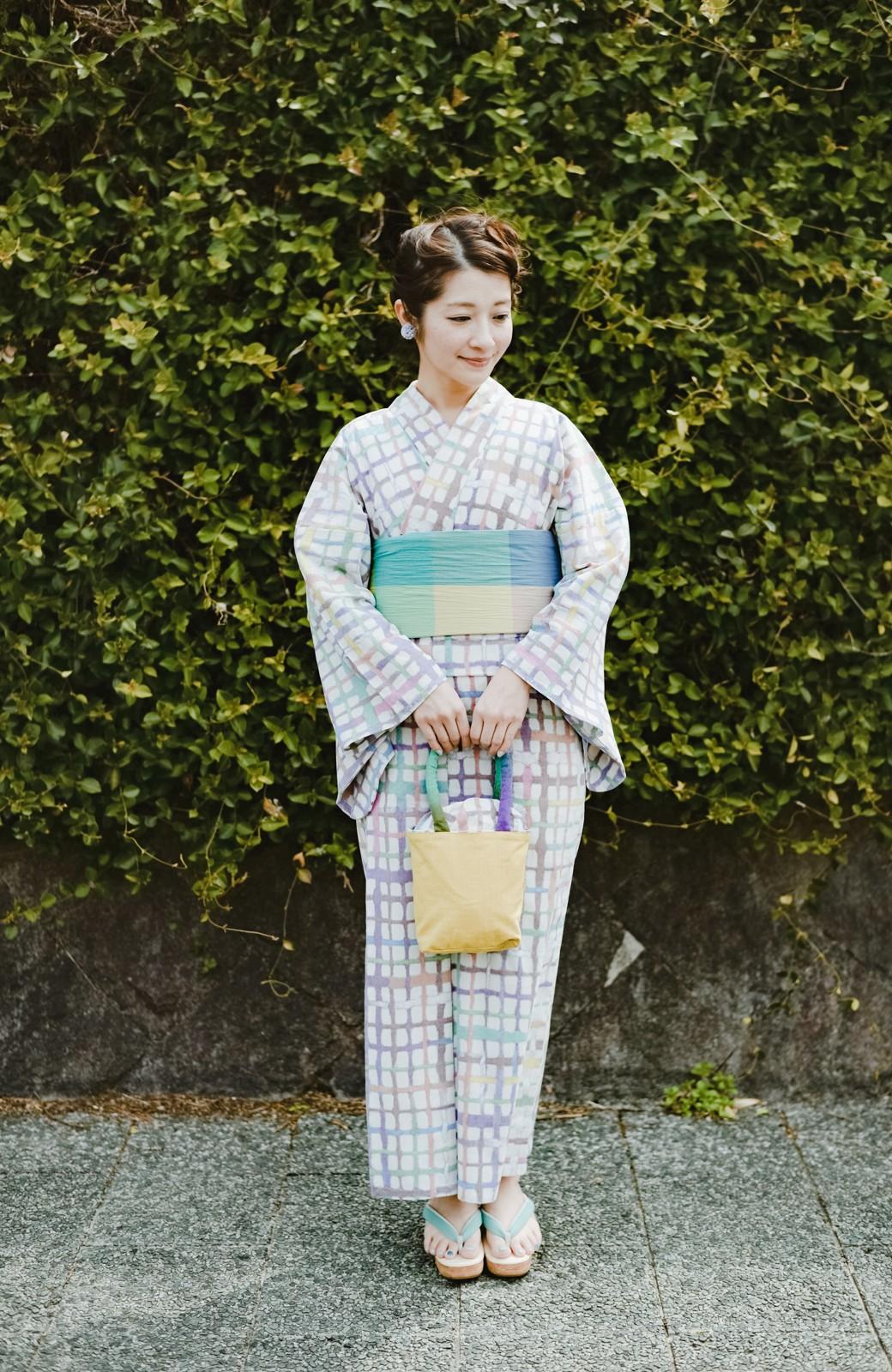 haco! ひでや工房 京都のへこ帯 大格子 <カラフル>の商品写真5