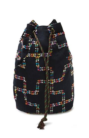 haco! ひでや工房 京都のポケット付き巾着 <ブラック系その他>の商品写真