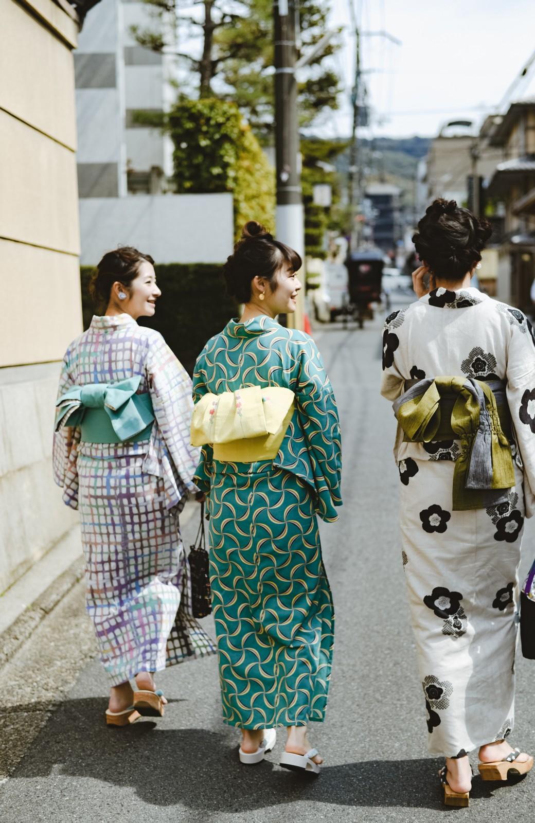 haco! ひでや工房 京都の綿ちりめん浴衣 <グリーン系その他>の商品写真21