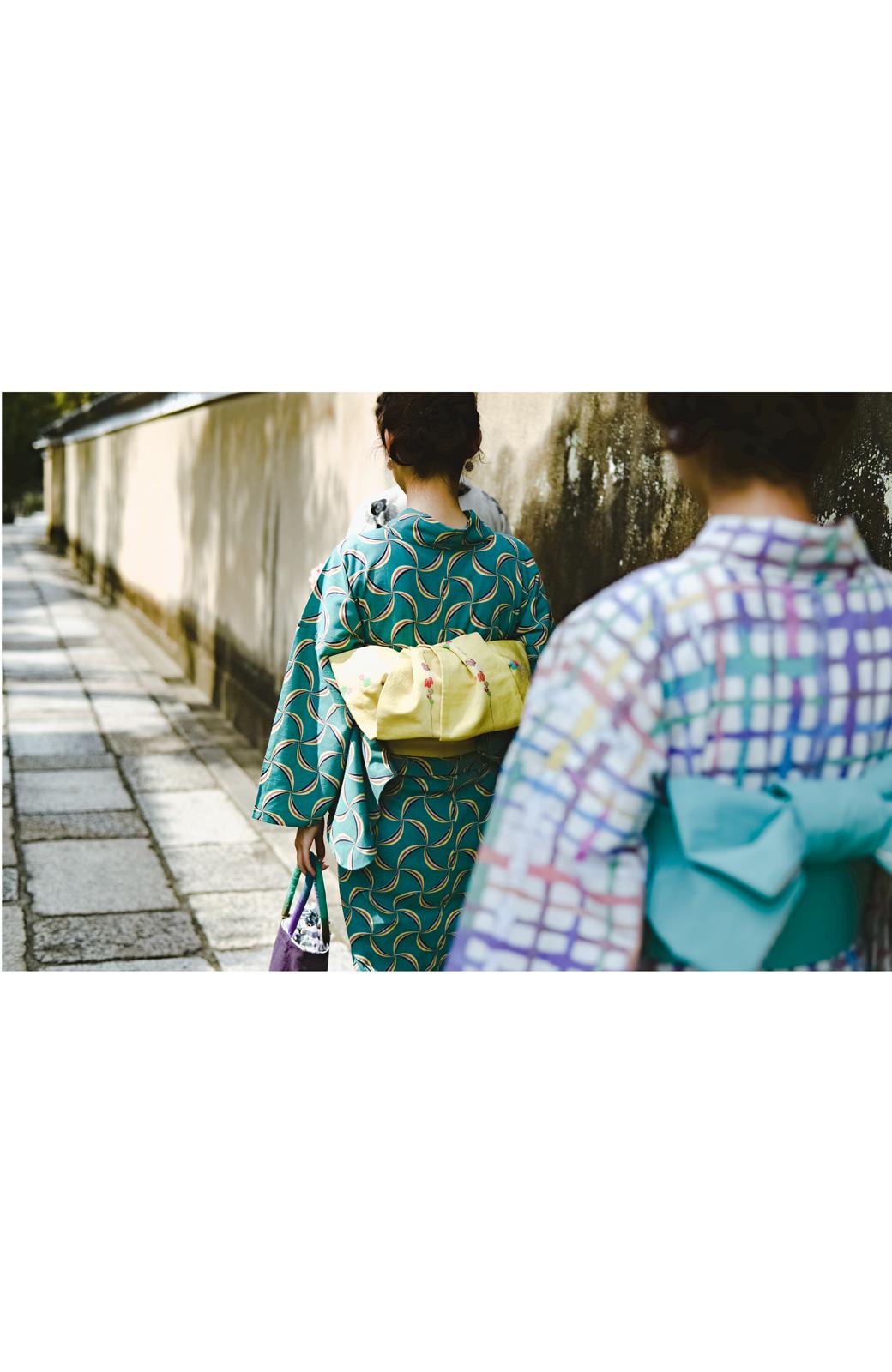 haco! ひでや工房 京都の綿ちりめん浴衣 <グリーン系その他>の商品写真24