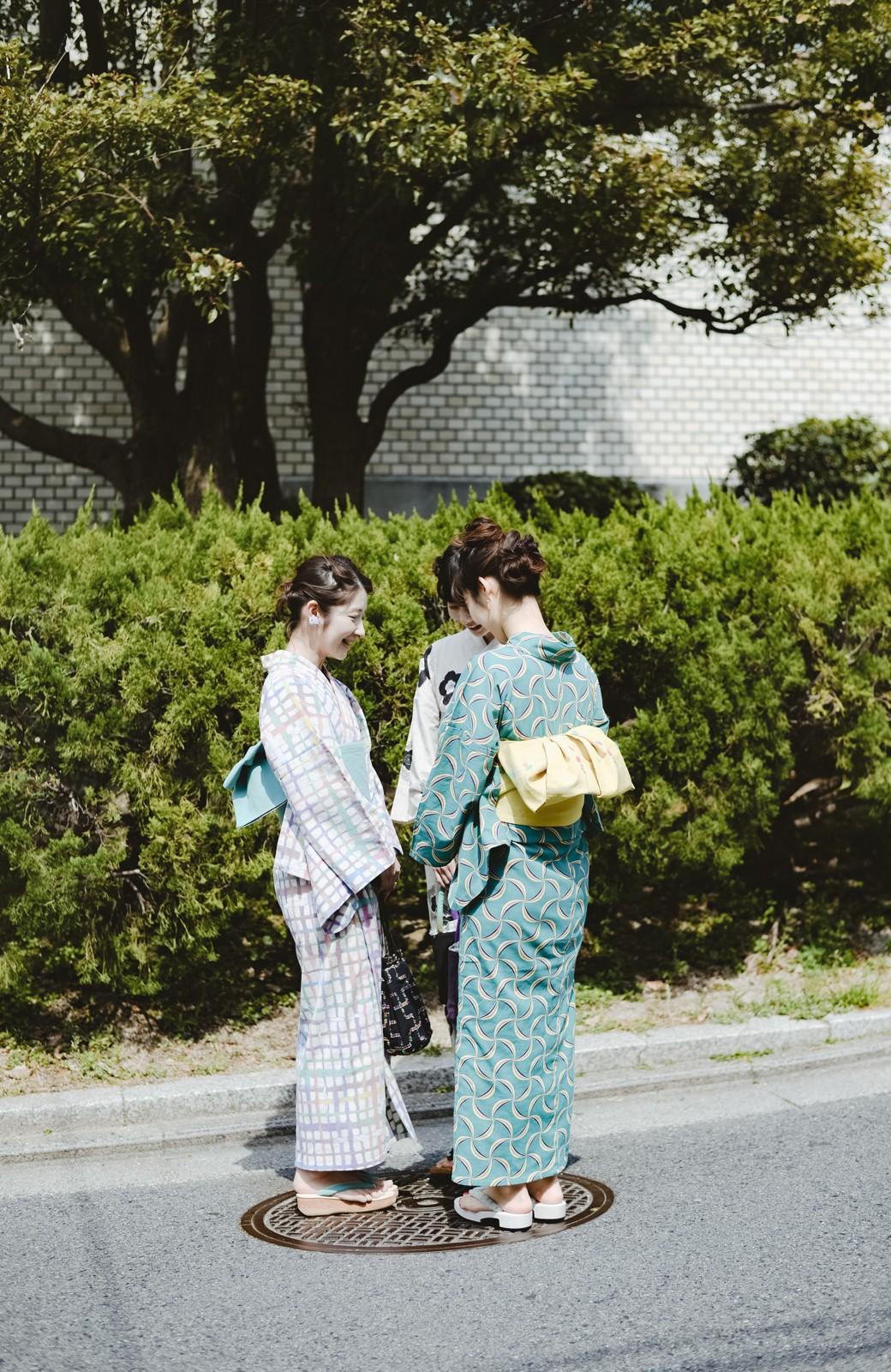 haco! ひでや工房 京都の綿ちりめん浴衣 <グリーン系その他>の商品写真25