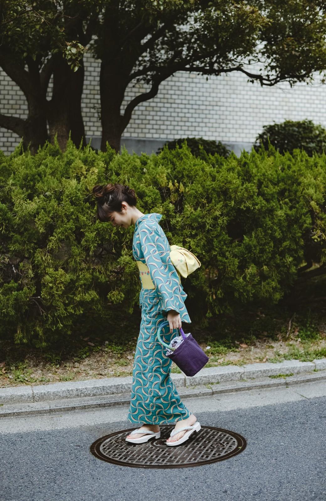 haco! ひでや工房 京都の綿ちりめん浴衣 <グリーン系その他>の商品写真29