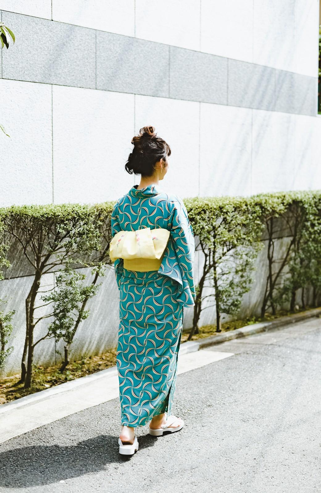 haco! ひでや工房 京都の綿ちりめん浴衣 <グリーン系その他>の商品写真5