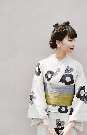 haco! ひでや工房 京都のへこ帯 金茶 <グレー系その他>の商品写真