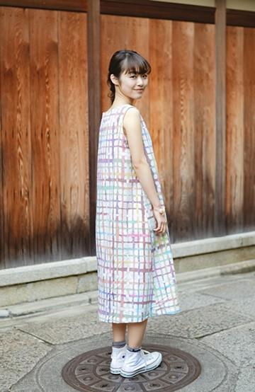haco! 京都の浴衣屋さんと作った浴衣生地のワンピース <ベージュ系その他>の商品写真