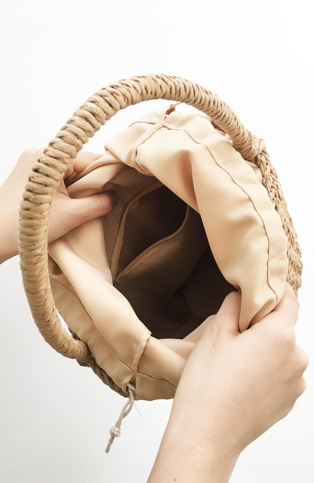 haco! ペーパー素材のバケツ型バッグ <ベージュ>の商品写真2