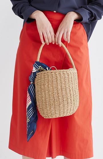 haco! ペーパー素材のバケツ型バッグ <ベージュ>の商品写真