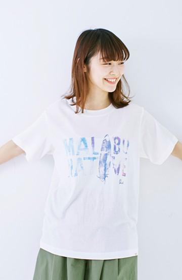 haco! MALIBU NATIVEフォトロゴTシャツ <ホワイト>の商品写真