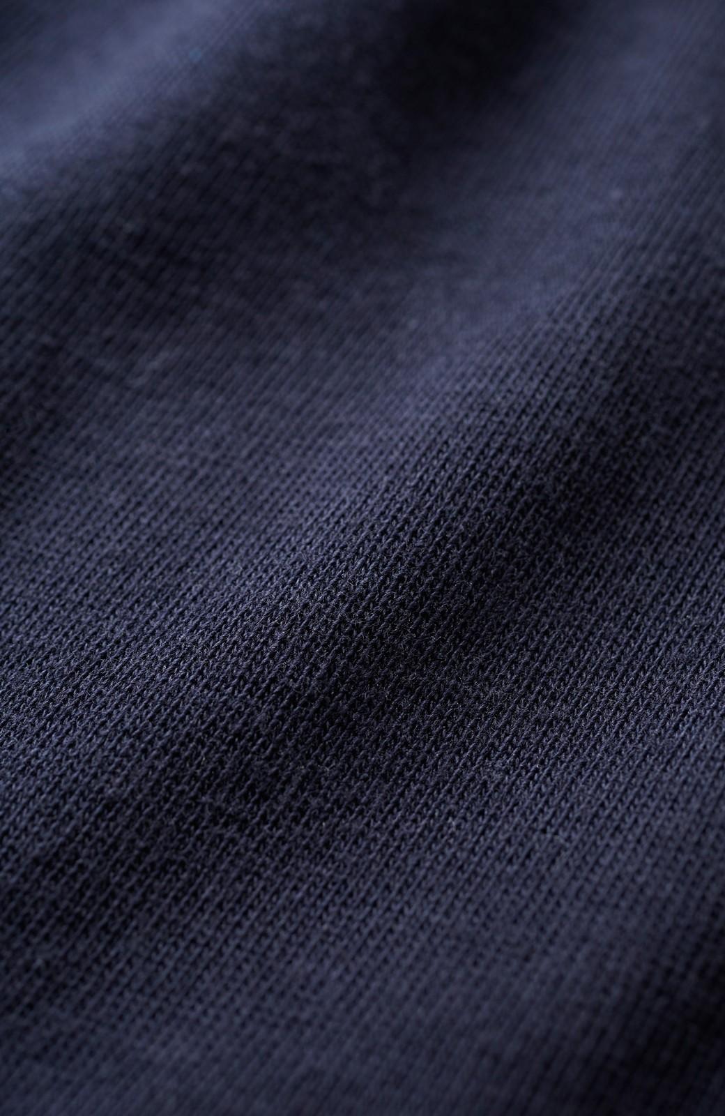 エムトロワ 女らしくフリンジを楽しむ Vネックふんわり袖トップス <ネイビー>の商品写真3