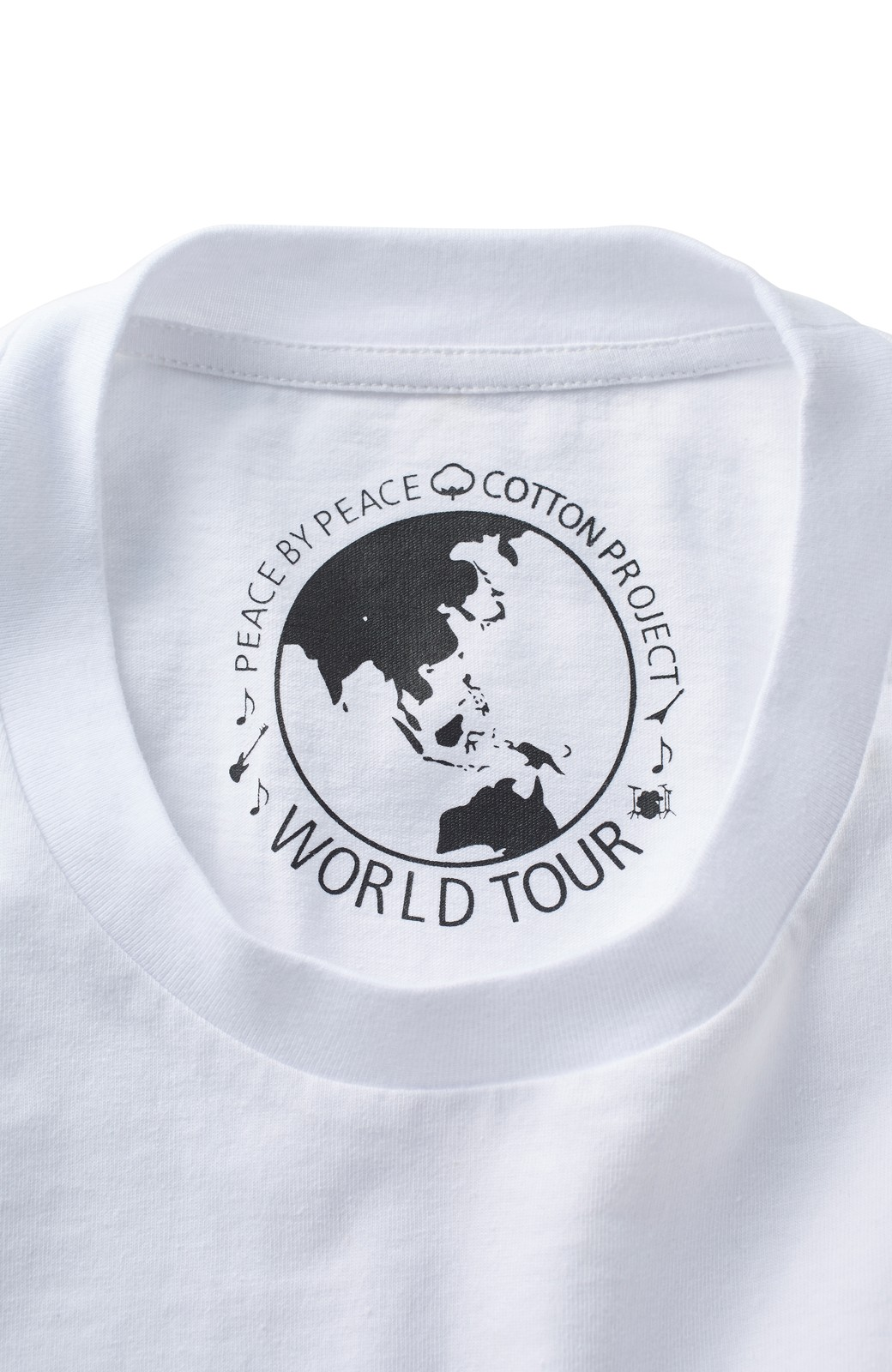 haco! PBP オーガニックコットン妄想ロックフェスTシャツ RED HOT CHILI PEPPERS (メンズ) <ホワイト>の商品写真3