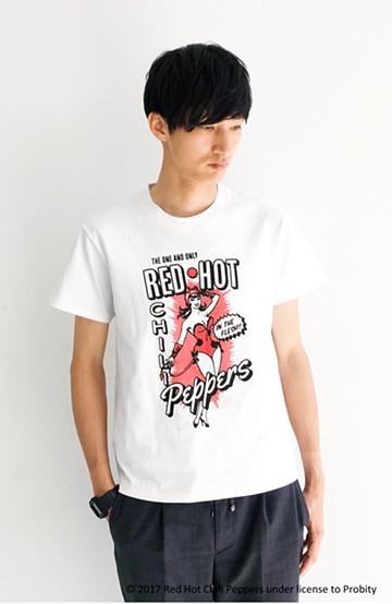 haco! PBP オーガニックコットン妄想ロックフェスTシャツ RED HOT CHILI PEPPERS (メンズ) <ホワイト>の商品写真