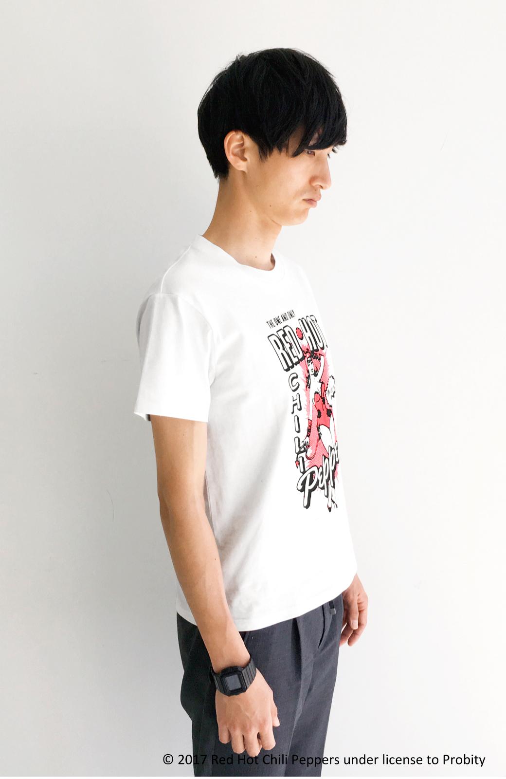 haco! PBP オーガニックコットン妄想ロックフェスTシャツ RED HOT CHILI PEPPERS (メンズ) <ホワイト>の商品写真5