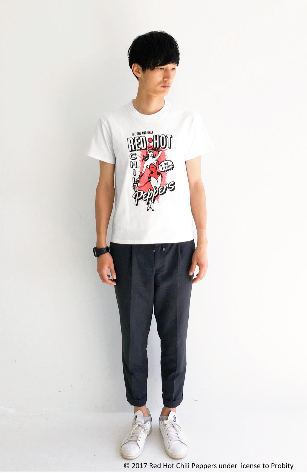 haco! PBP オーガニックコットン妄想ロックフェスTシャツ RED HOT CHILI PEPPERS (メンズ) <ホワイト>の商品写真4